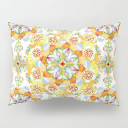 Flower Garden Mandala Pillow Sham