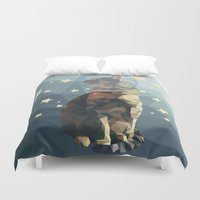 space cat Duvet Covers featuring Space Cat. by Dani Does Art