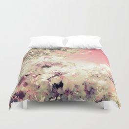 Pink Lavender Flowers Duvet Cover
