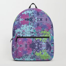 Crazy hibiscus lilac Backpack