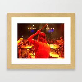 Taylor Hawkins Drum World Framed Art Print