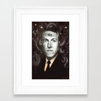 lovecraft Framed Art Prints featuring H.P. Lovecraft  by MATT DEMINO
