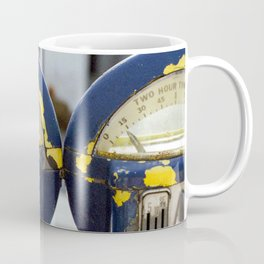 Weathered Parking Meters Coffee Mug