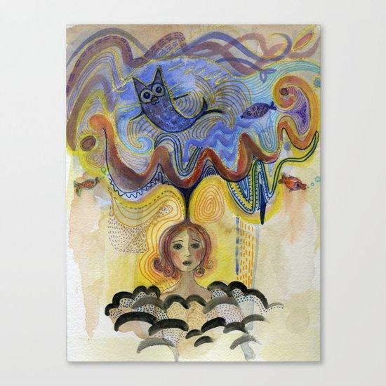 cloud of imagination Canvas Print