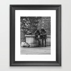 Casual Encounters Framed Art Print