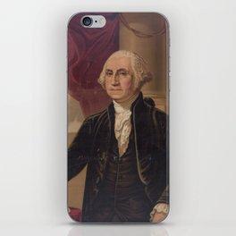 Vintage Portrait of George Washington (1876) iPhone Skin