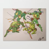 tmnt Canvas Prints featuring TMNT by Brittany Ketcham