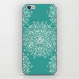 Teal and Lace Mandala iPhone Skin