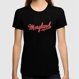 Maryland Red Script T-shirt