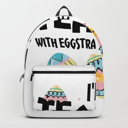 I'm A Teacher With Eggstra Special Students Easter Backpack
