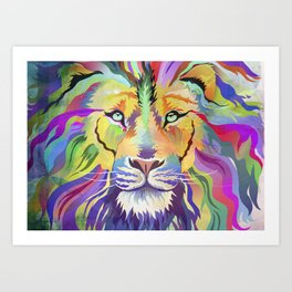 King of Technicolor II Art Print