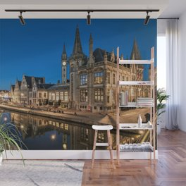 Twilight on the Ghent–Terneuzen Canal, Belgium Photographic Wall Mural