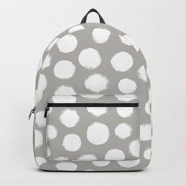 Gray & White Large Polka Dots  Backpack
