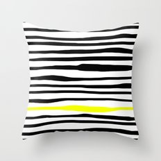Neon zebra stripes Throw Pillow