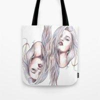 sky ferreira Tote Bags featuring Sky Ferreira  by Asquared2Art