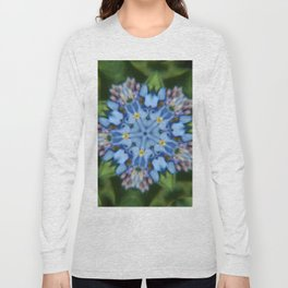 Fluid Nature - Forget Me Not - Abstract Kaleidoscope Long Sleeve T-shirt