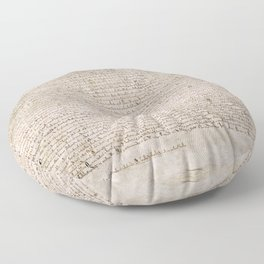 The Magna Carta 0f 1215 Floor Pillow
