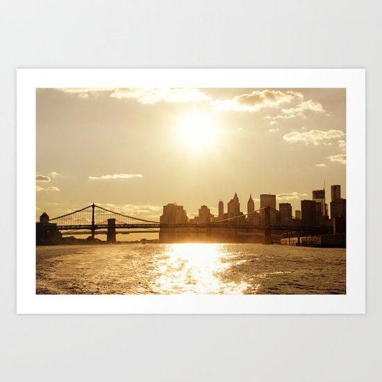 New York City Sunset Art Print