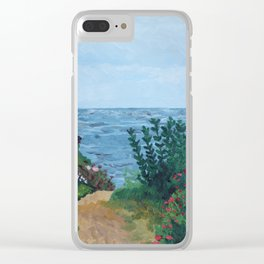 Sea Side Cottage Clear iPhone Case