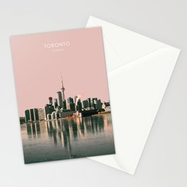 Toronto Skyline, Canada Travel Artwork Stationery Cards
