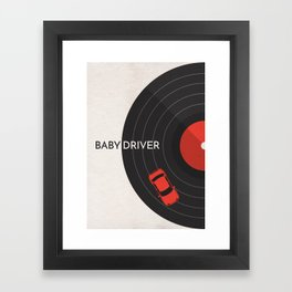 Baby Driver Minimalist Poster Framed Art Print