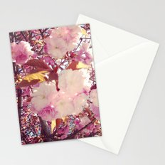 Blurry Blossoms Stationery Cards