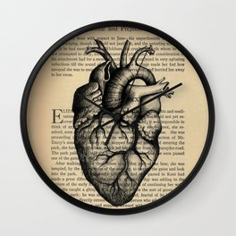 Pride & Prejudice, Chapter XXXV: Anatomical Heart Wall Clock