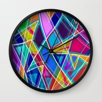 stained glass Wall Clocks featuring Stained Glass by gretzky