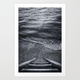 Steps to the Sea Art Print