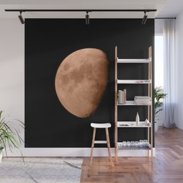 4K Dark Side of the Moon Blood Orange Wall Mural