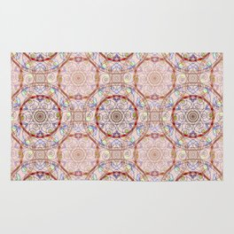 Oriental pattern, beige background with bright decorative elements. Rug