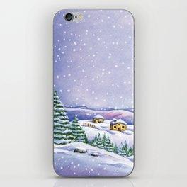 A purple winter's night iPhone Skin