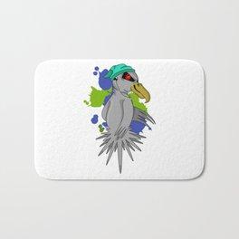 Punk Parrot Bath Mat