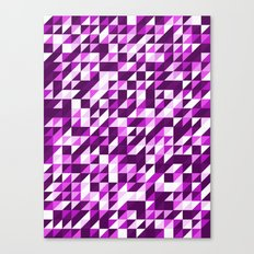 Purple Patchwork Canvas Print