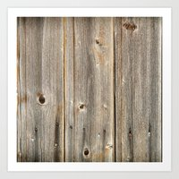 Old Rustic Wood Texture Art Print