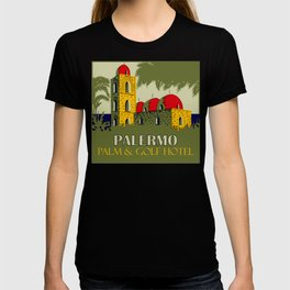 Retro Palermo Sicily hotel travel ad T-shirt