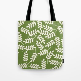 Holiday Leafy Pattern Tote Bag