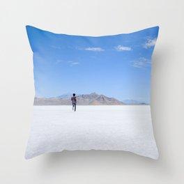 BONNEVILLE SALT FLATS, UTAH Throw Pillow