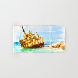 shipwreck aqrestd Hand & Bath Towel