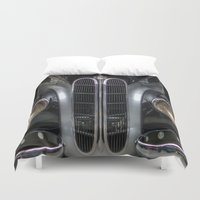 bmw Duvet Covers featuring Old BMW by Cozmic Photos