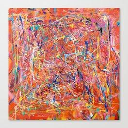 Orange Expression Canvas Print