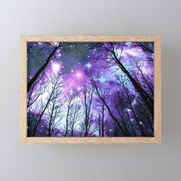 Black Trees Lavender Pink Blue Space Framed Mini Art Print