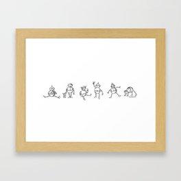 Robot Babies B&W Framed Art Print