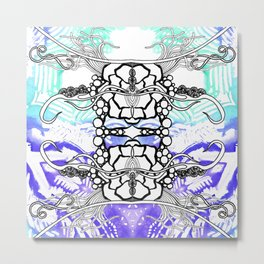 Rorshach 4 Metal Print