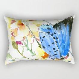 Holly Blue Butterfly Rectangular Pillow