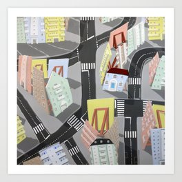 showville - urban living Art Print