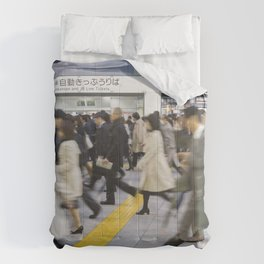 Japanese Hustle and Bustle Comforters