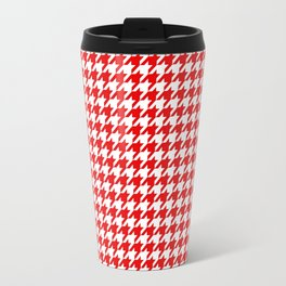 Friendly Houndstooth Pattern,red Travel Mug
