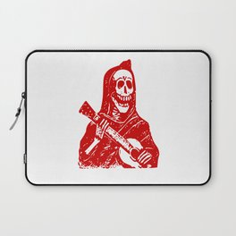 Grim Reaper With Guitar Laptop Sleeve
