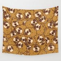 potato Wall Tapestries featuring Puglie Potato by Puglie Pug